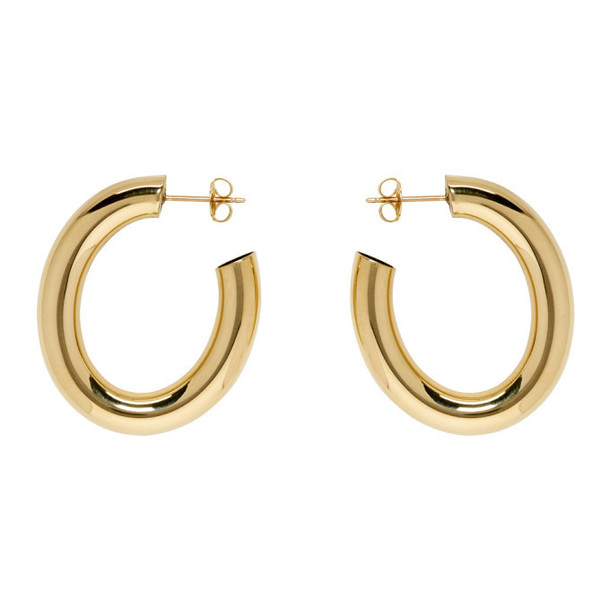 Laura Lombardi Gold Mini Curve Earrings