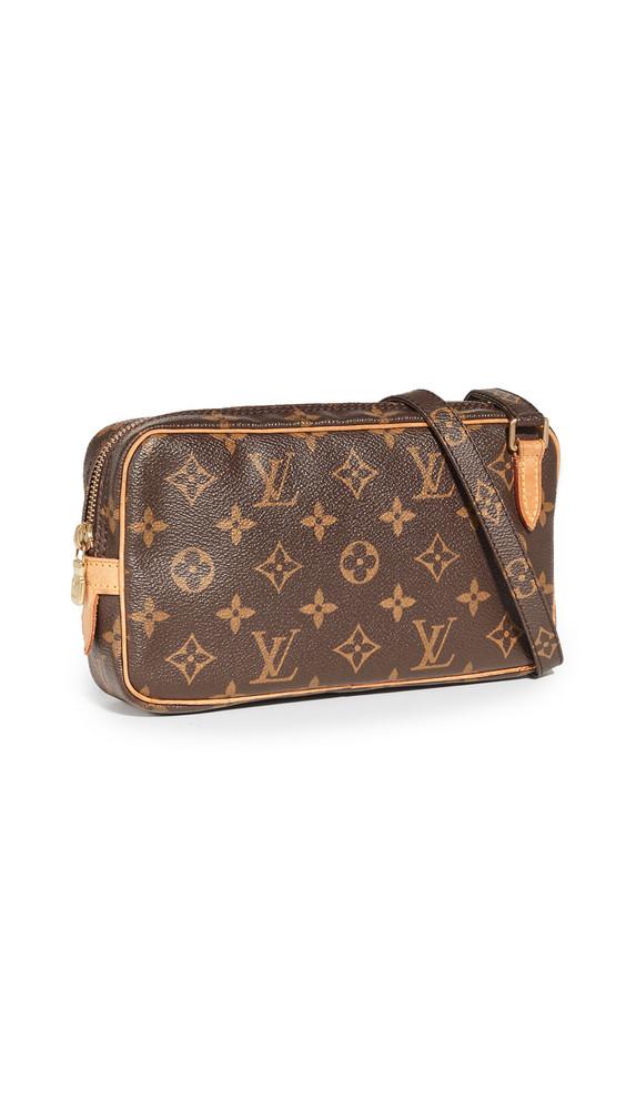 What Goes Around Comes Around Louis Vuitton Monogram Pochette Marly Bag in brown