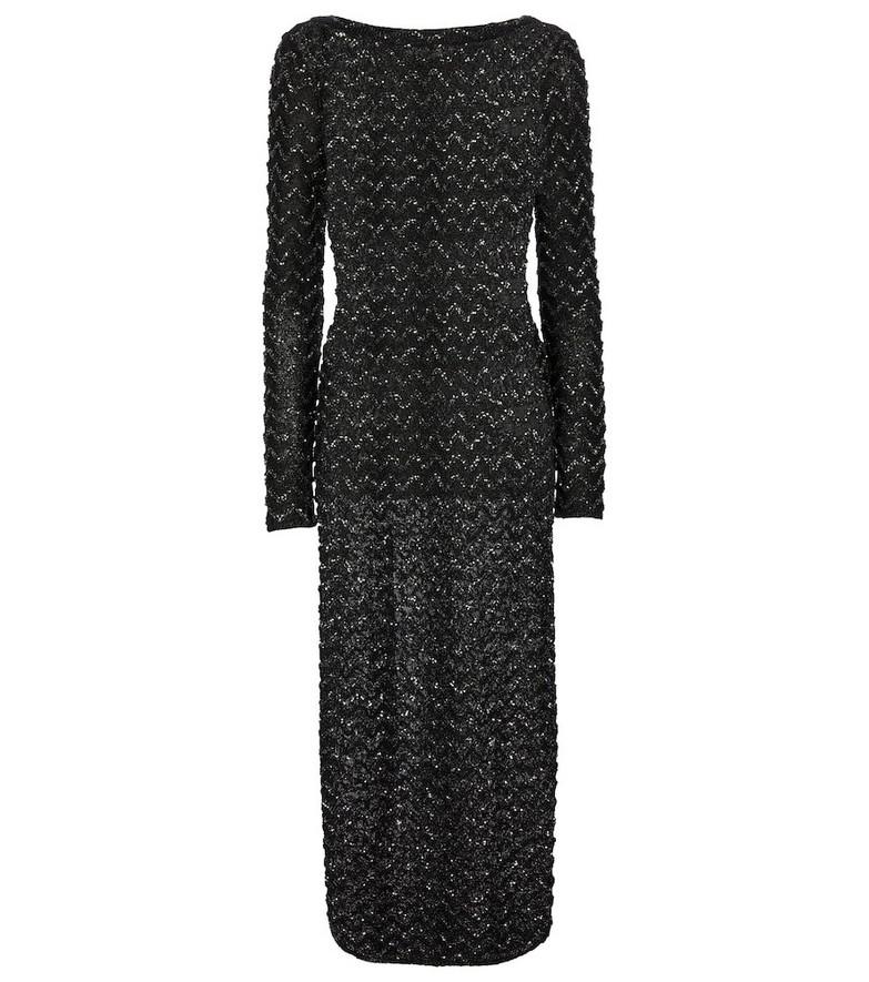 Missoni Sequined knit maxi dress in black