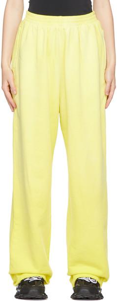 Balenciaga Yellow Large Fit Lounge Pants