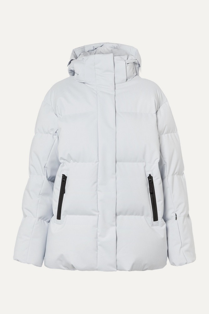 BOGNER FIRE+ICE BOGNER FIRE+ICE - Vera Hooded Quilted Down Ski Jacket - Gray