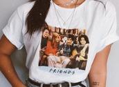 top,friends,t-shirt,white