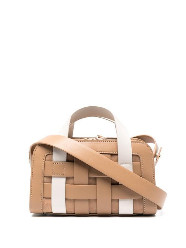 Mlouye lattice woven tote bag in neutrals