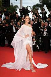 shoes,Silver sandals,alessandra ambrosio,model,red carpet dress,cannes,gown,prom dress