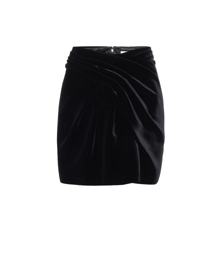 Saint Laurent Velvet miniskirt in black