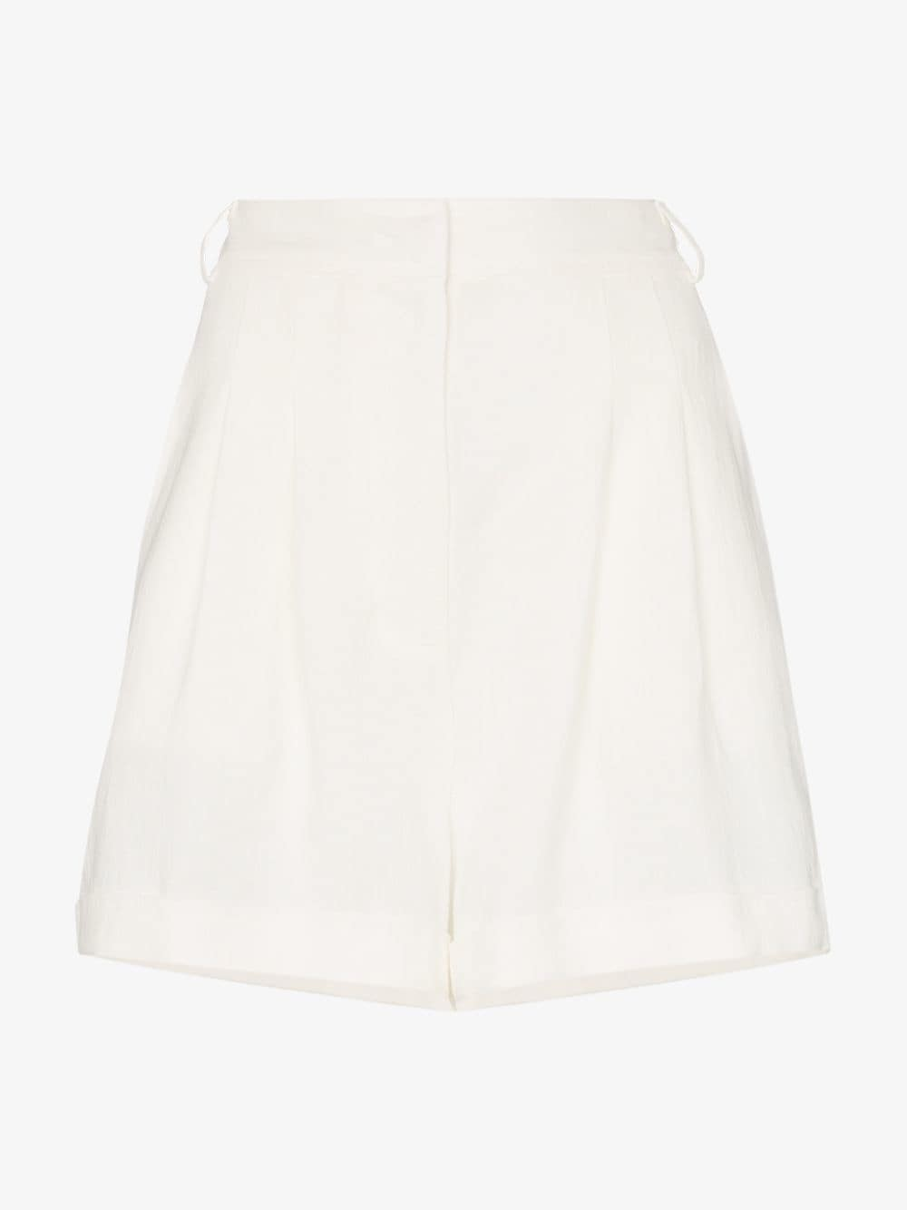Le Kasha cesaree pleated line shorts in white