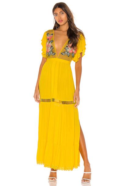 Cleobella Amery Dress in yellow