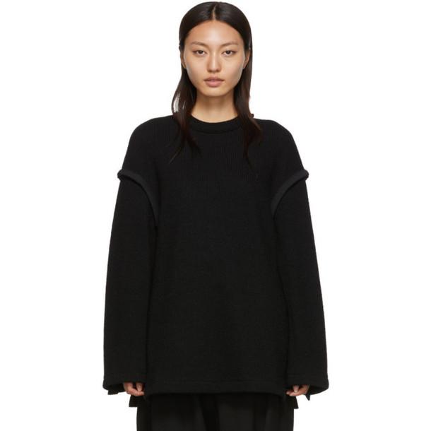 Regulation Yohji Yamamoto Black Open Side Sweater