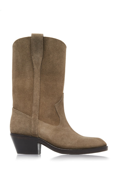 Isabel Marant Danta Suede Boots Size: 36 in grey
