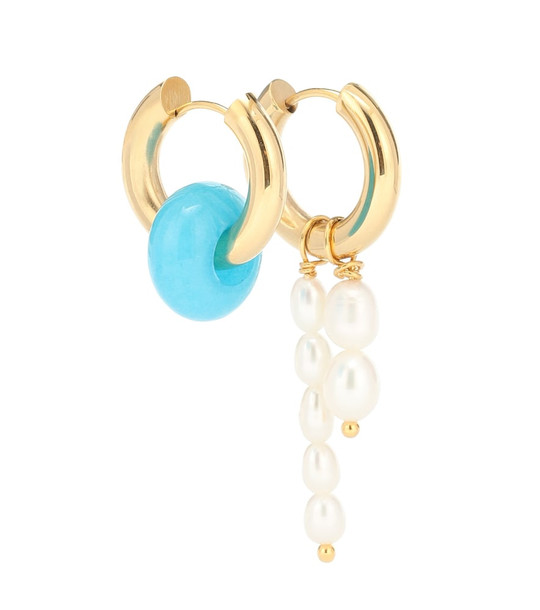Timeless Pearly Baroque pearl earrings in turquoise