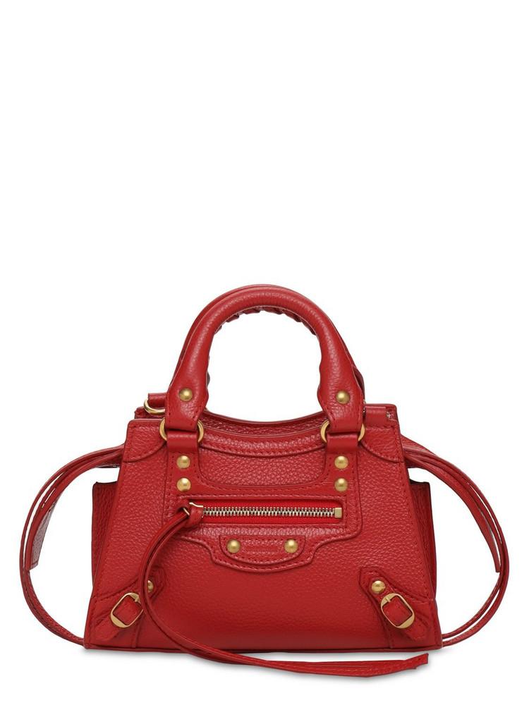 BALENCIAGA Neo Classic City Nano Leather Bag in red