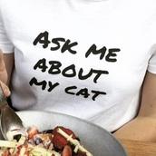 t-shirt,white t-shirt,funny t-shirt,cat shirt,shirts with sayings