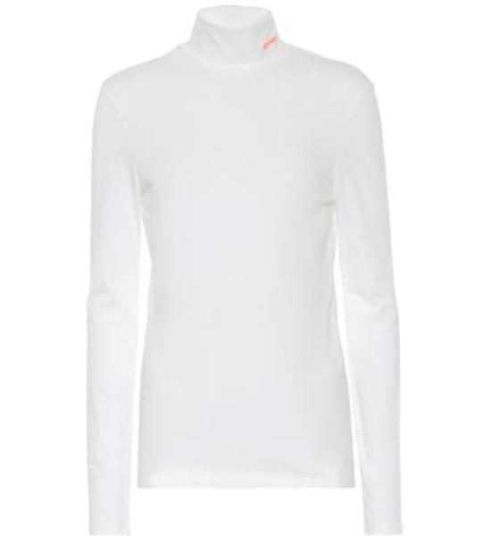 Calvin Klein 205W39NYC Stretch-cotton turtleneck top in white