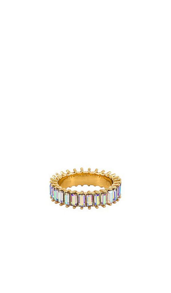 BaubleBar Mini Alidia Ring in Metallic Gold in clear