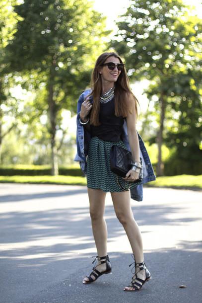 b a r t a b a c skirt top jewels bag sunglasses jacket shoes