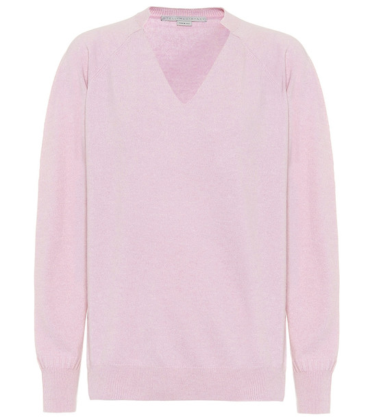 Stella McCartney Cashmere and wool sweater in purple