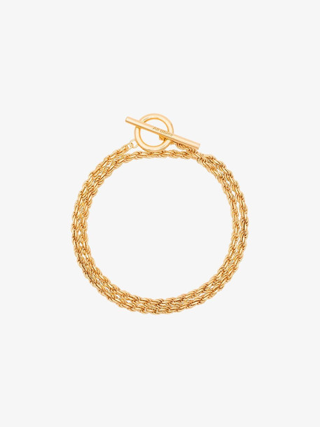 All Blues 18k yellow gold vermeil rope chain bracelet