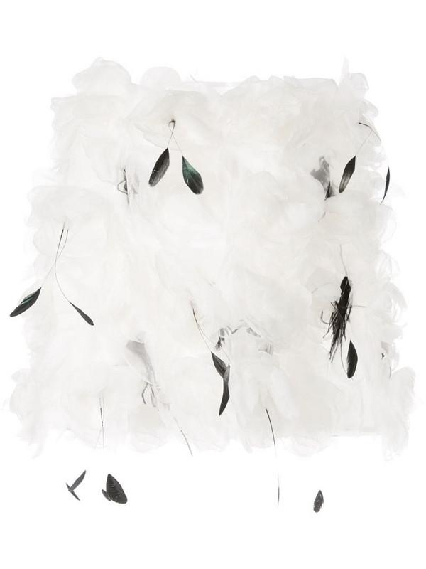 Isabel Sanchis 3D floral off the shoulder top in white