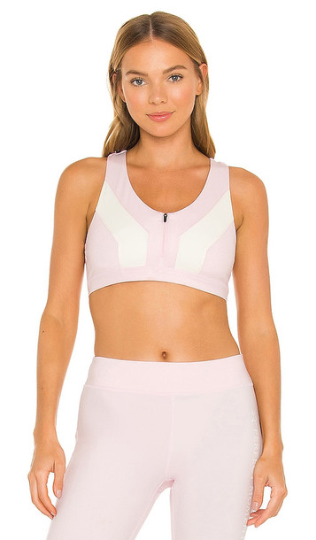 Perfect Moment Vale Rainbow Seamless Fitness Top in Pink