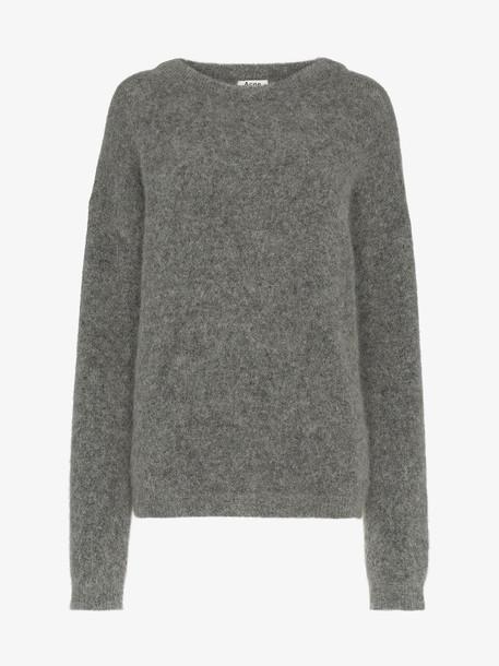 Acne Studios melange oversized jumper in grey