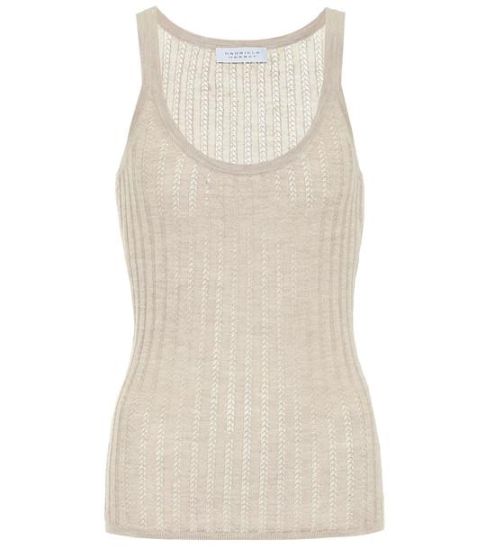 Gabriela Hearst Nevin cashmere and silk tank top in beige
