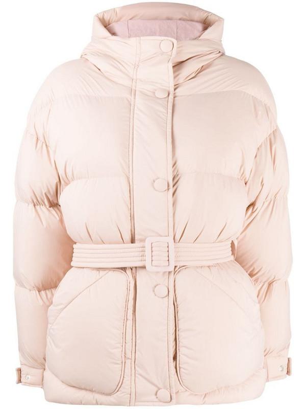 Ienki Ienki Michlin belted puff jacket in pink