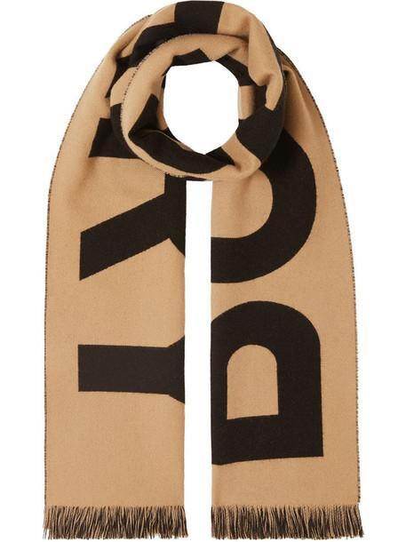 Burberry jacquard logo scarf in brown