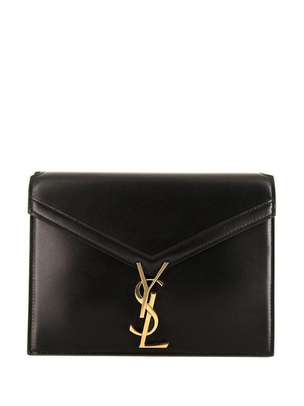 Yves Saint Laurent Pre-Owned Cassandre shoulder bag in black