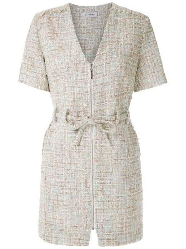 Olympiah knitted belted playsuit in neutrals