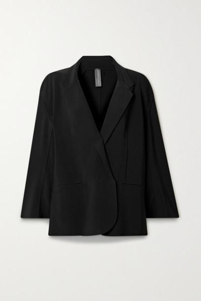 Norma Kamali - Oversized Stretch-jersey Blazer - Black