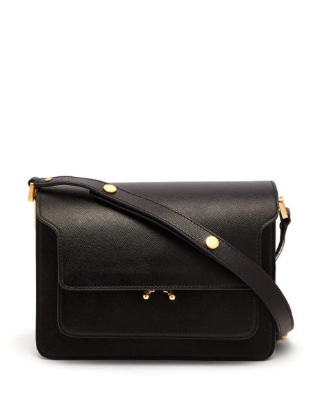 Marni - Trunk Medium Saffiano Leather Bag - Womens - Black