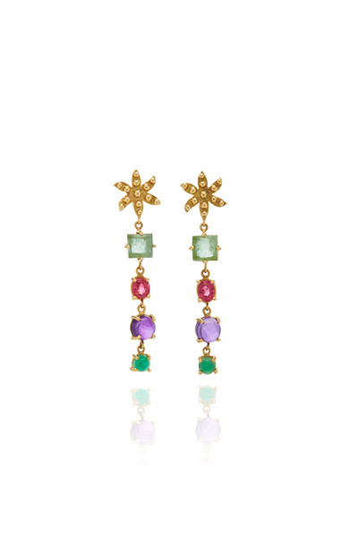 Gaya 18K Yellow Gold Mini Flower Earrings