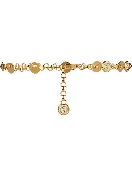 Gucci Interlocking G chain belt in gold
