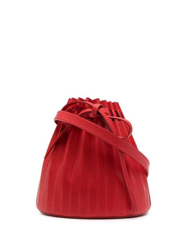 Mansur Gavriel Mini Pleated bucket bag in red