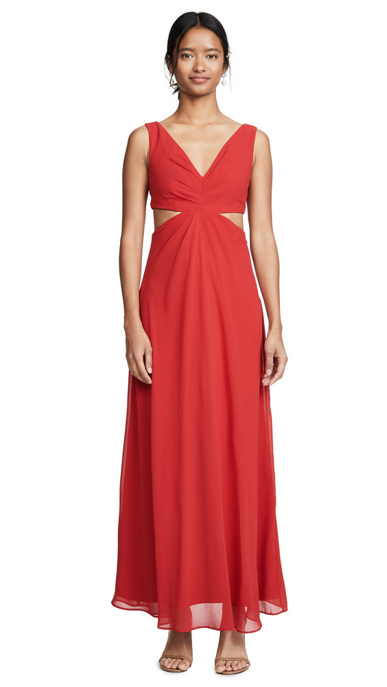 Fame and Partners The Lennox Dress in red