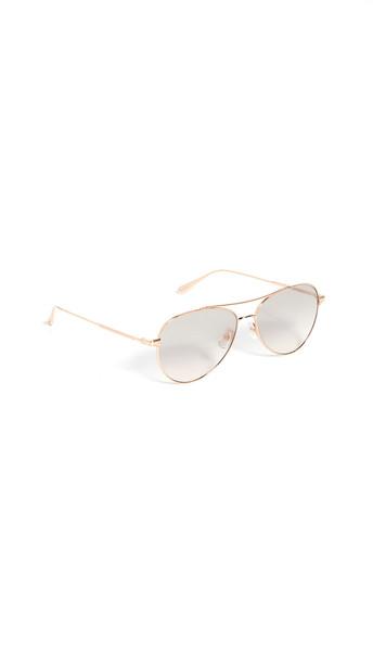 GARRETT LEIGHT Culver 56mm Sunglasses in gold / rose