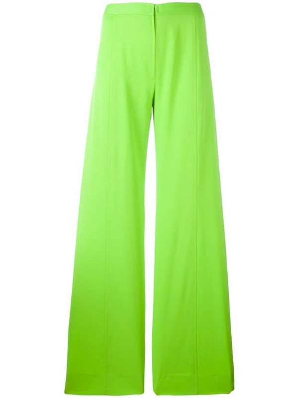 Emanuel Ungaro Pre-Owned wide leg trousers in green
