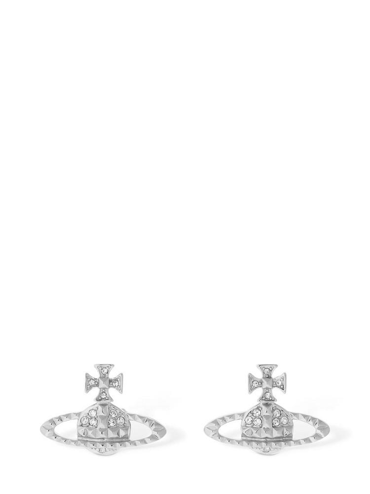 VIVIENNE WESTWOOD Mayfair Orbit Stud Earrings in silver