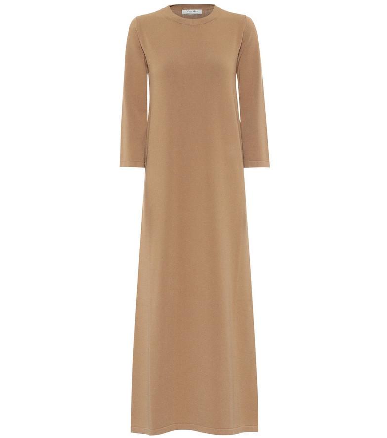 S Max Mara Beatrix maxi dress in beige