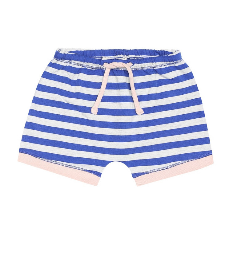 Caramel Baby Belgravia stretch-cotton shorts in blue