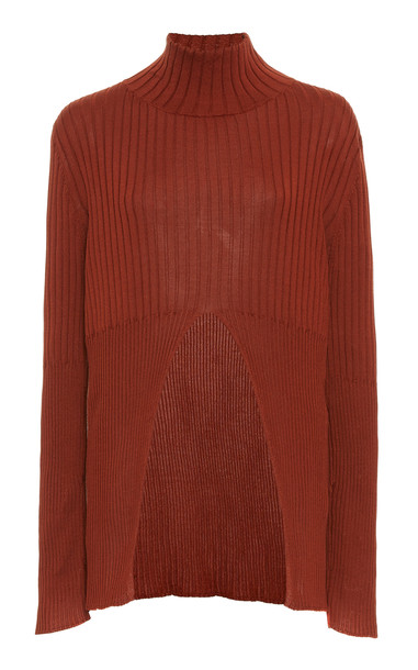 Sir The Label Astrid Split Sweater Size: 1 in red