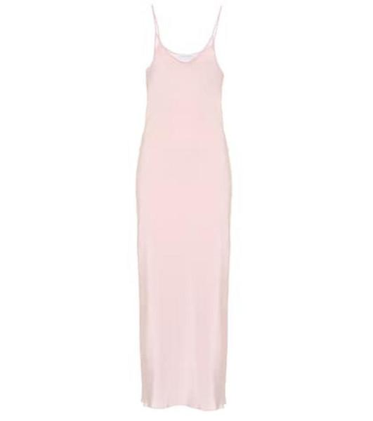 Ryan Roche Exclusive to Mytheresa – silk slip dress in pink