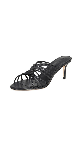 cupcakes and cashmere Arriana Strappy Mules in black