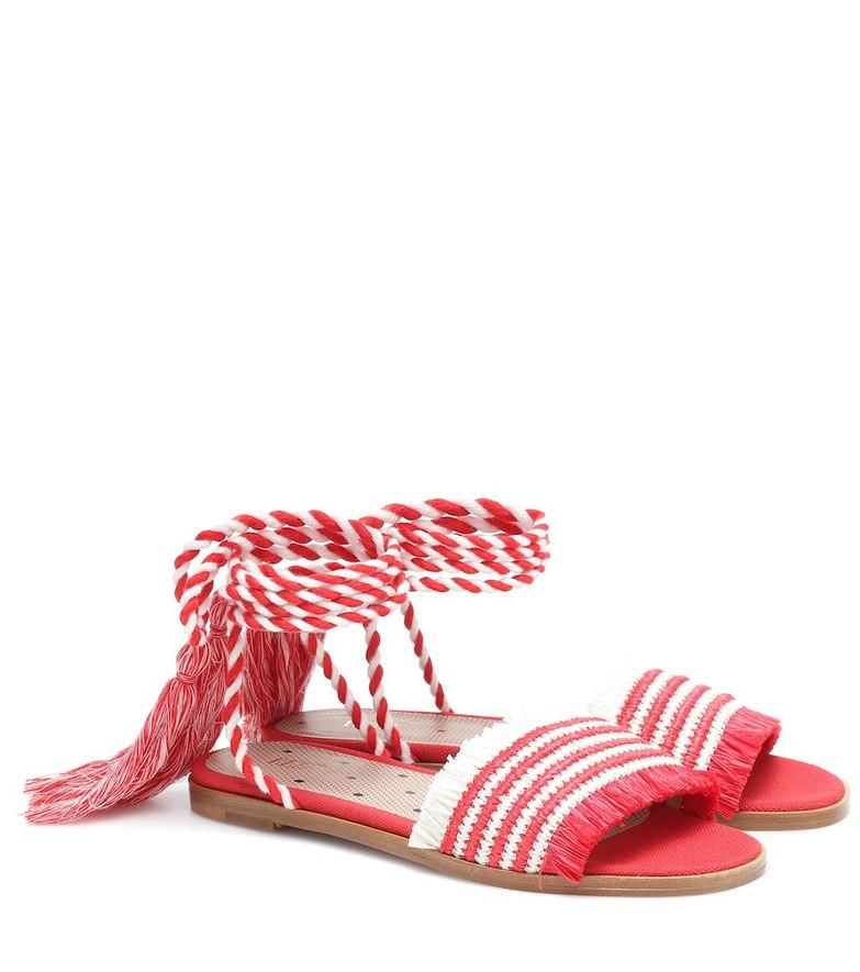 RED (V) RED (V) raffia sandals
