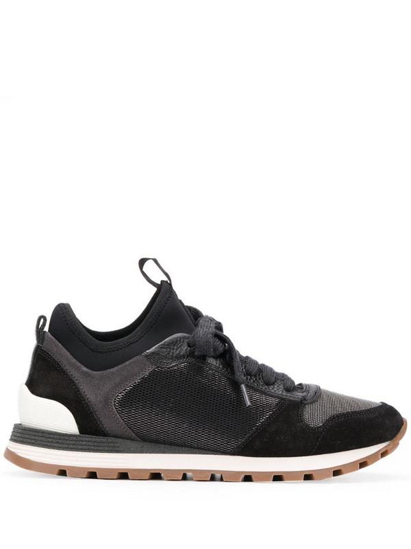 Brunello Cucinelli colour block sneakers in black