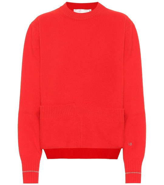 Victoria Beckham Wool sweater in red