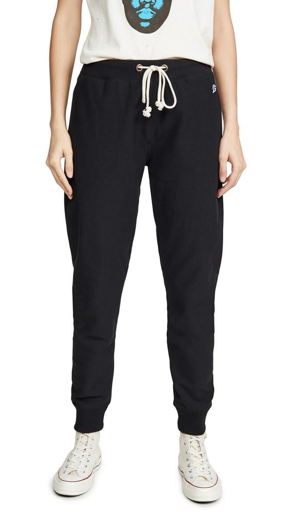 Champion Premium Reverse Weave Elastic Cuff Pants in black