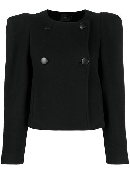 Isabel Marant Fileali double-breasted jacket in black