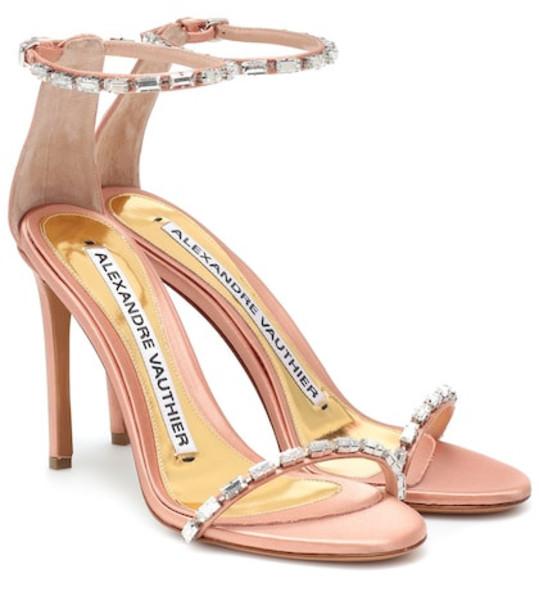 Alexandre Vauthier Carla embellished satin sandals in pink
