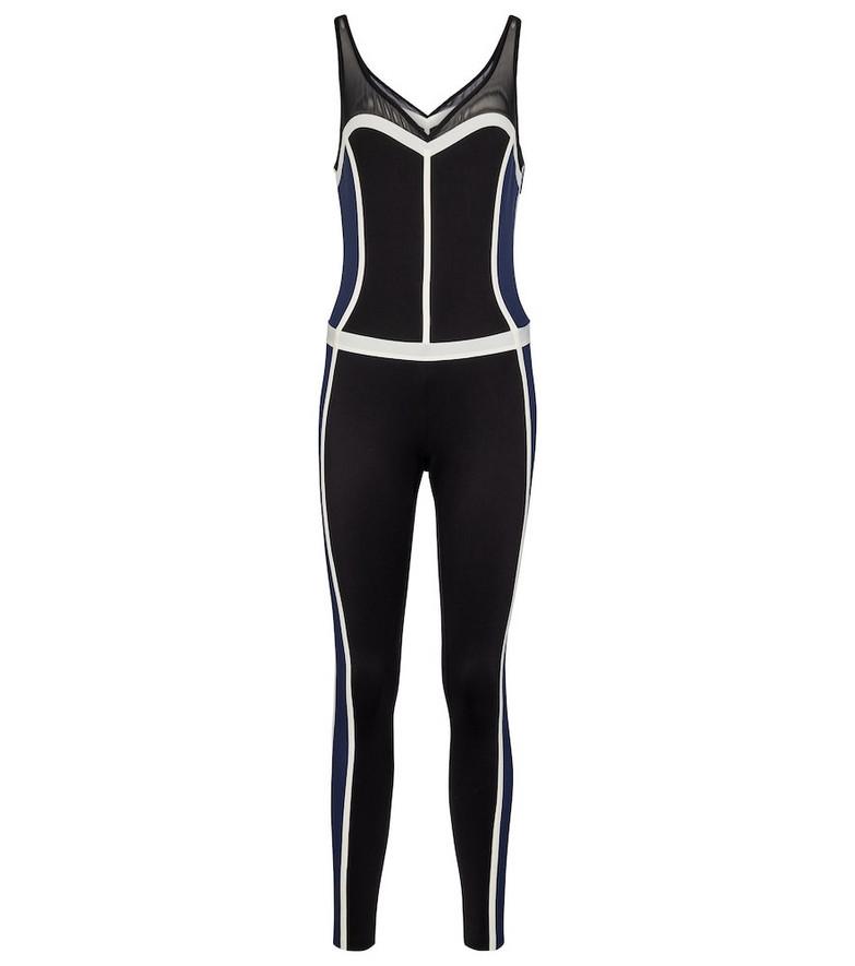 Ernest Leoty Corset sports jumpsuit in black